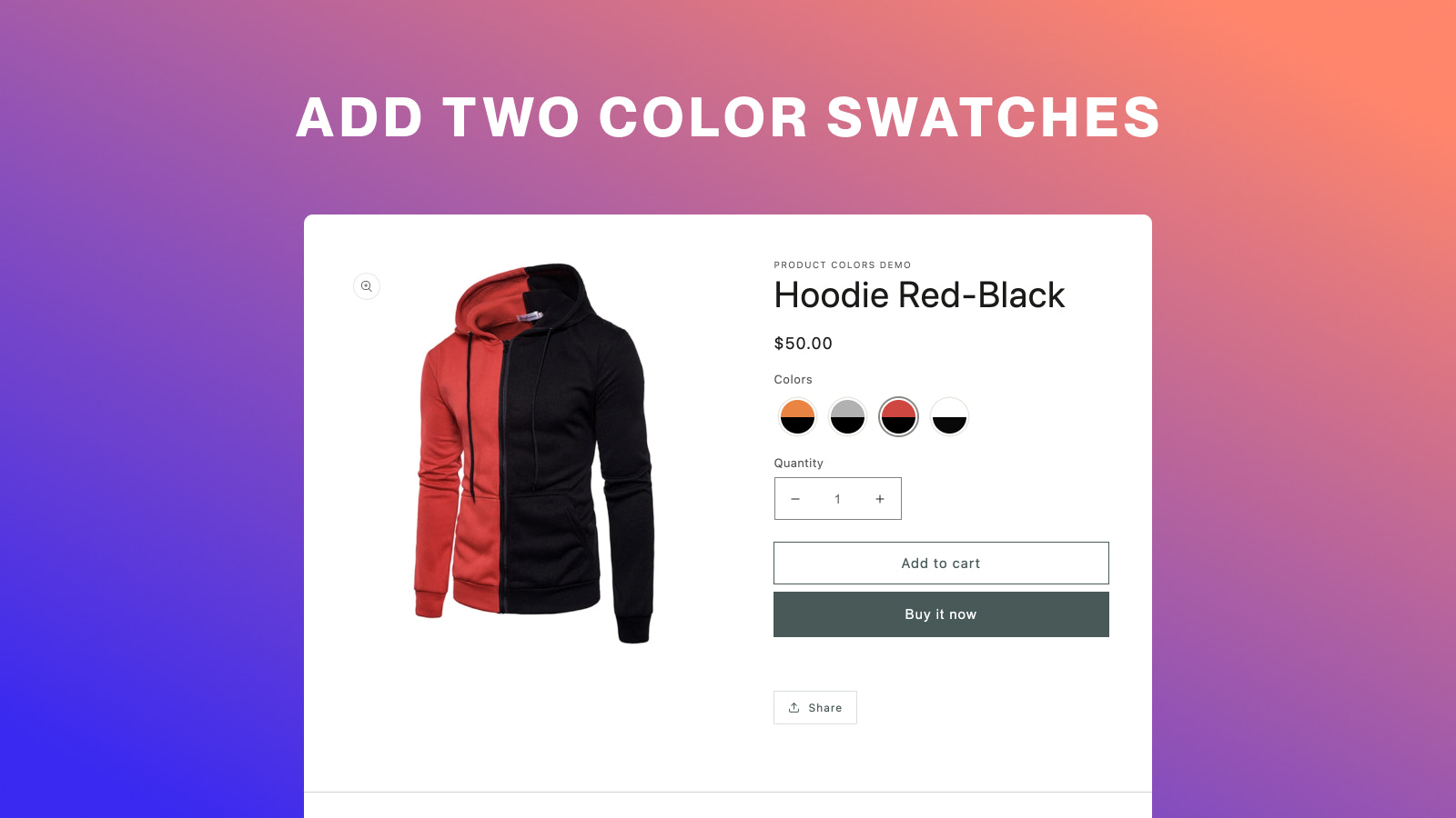 Add two color swatches