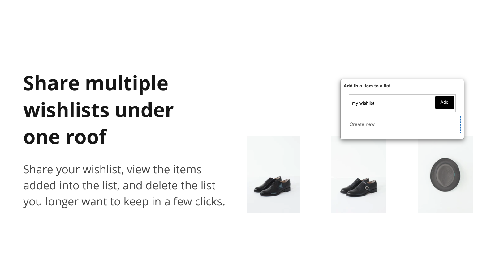 Share multiple wishlists under one roof