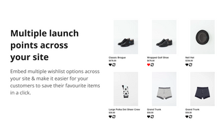 Multiple launch points across your site