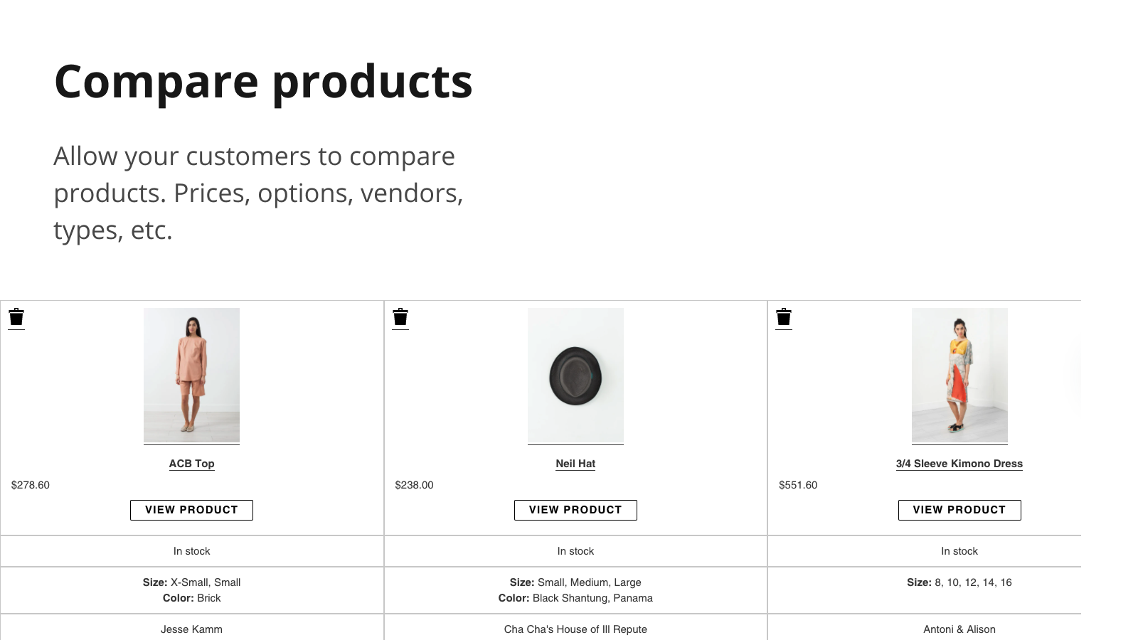 Compare products