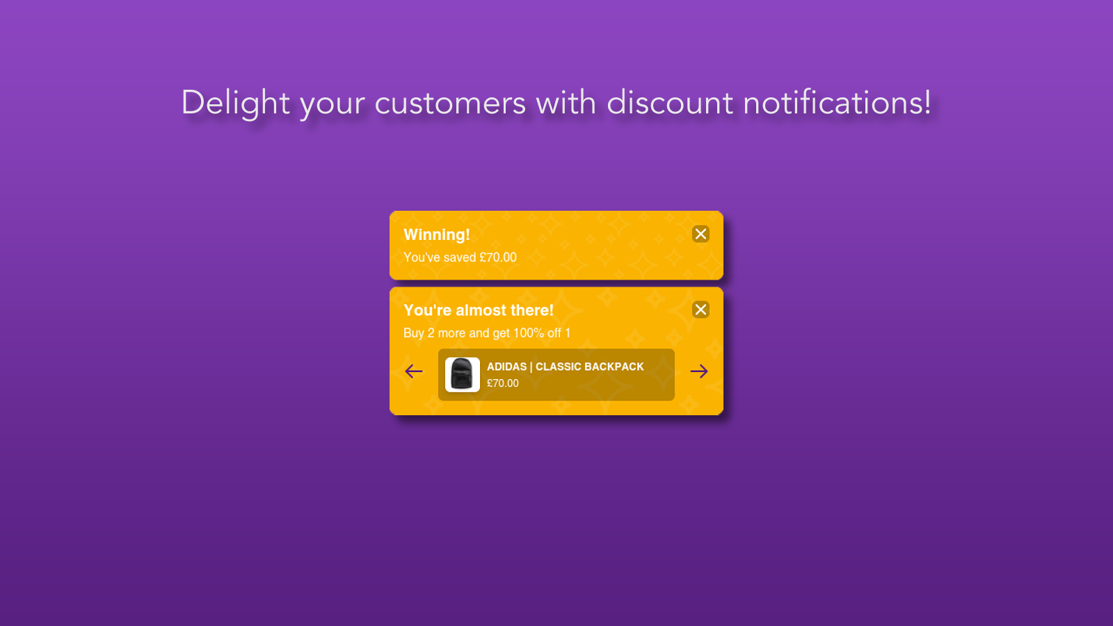 Delight your customers with notifications