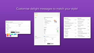 Customise your messages