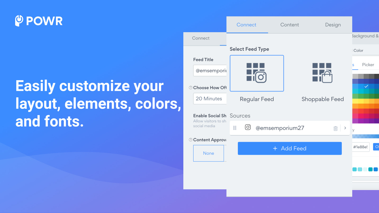 Customize your social feed layout