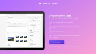 Onboarding creatorkit video and ads creator