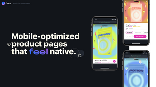 Mobile product pages that feel native. Optimised for performance