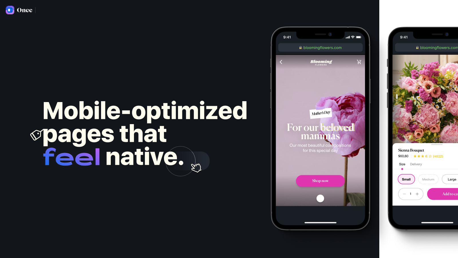 Mobile-optimized pages that feel native