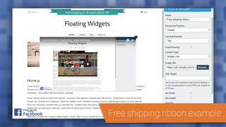 Free shipping ribbon example