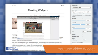 Youtube video widget