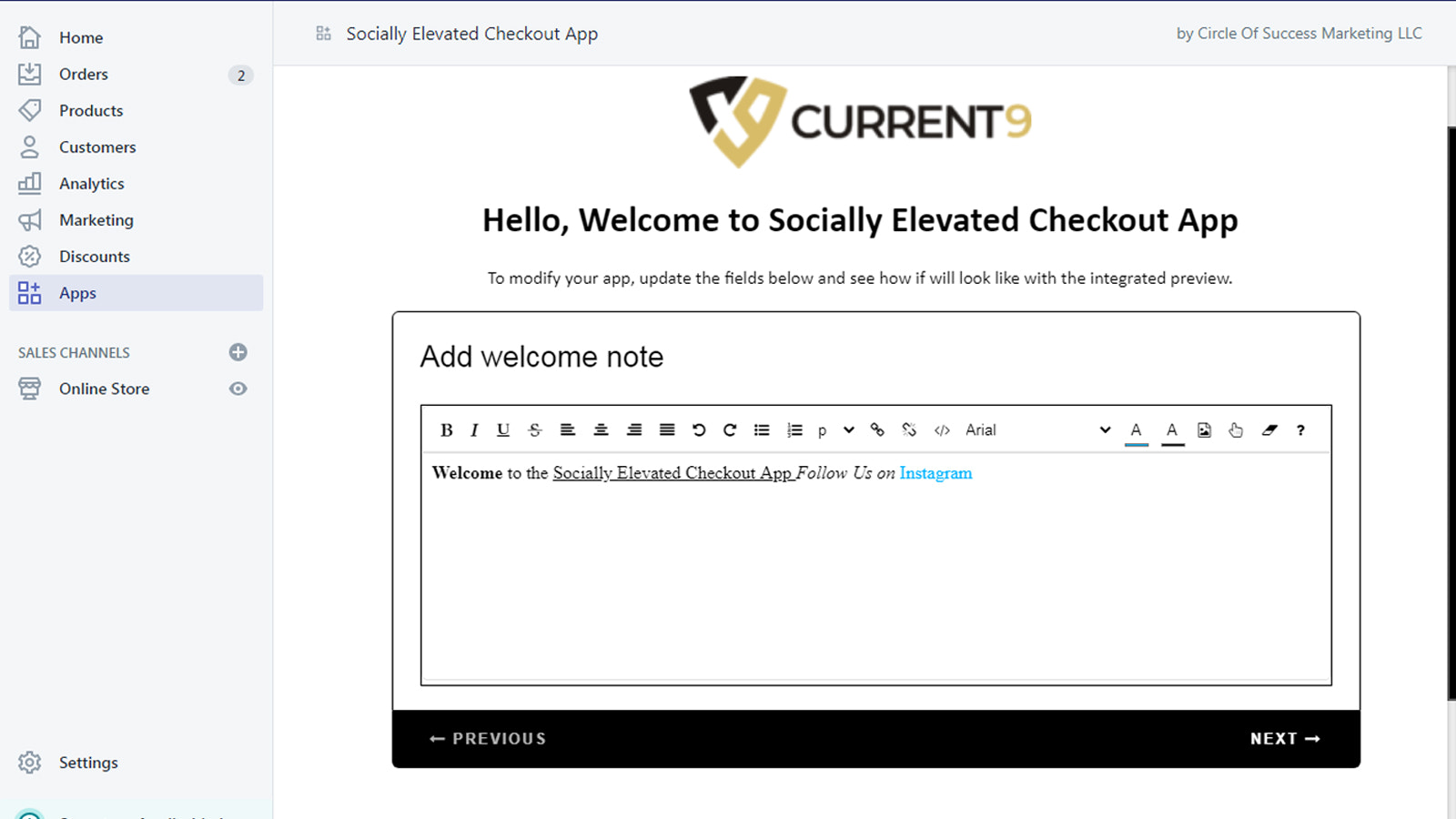 Socially Elevated Checkout App