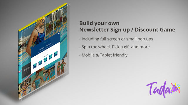 Mobile & Tablet friendly, Spin the wheel, pick a gift & more