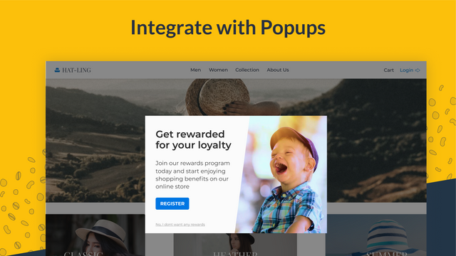 Integrate with popups