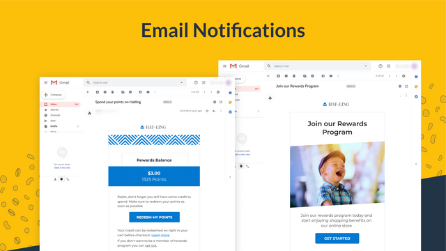 Setup email notifications to remind customers about their points
