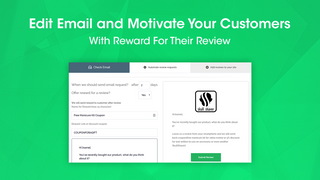 Edit email template and send discount for a review