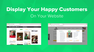 Display your happy customers on your website