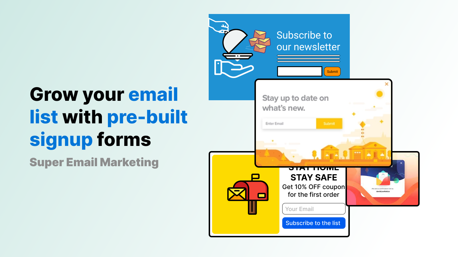 Wide Range of Email Templates