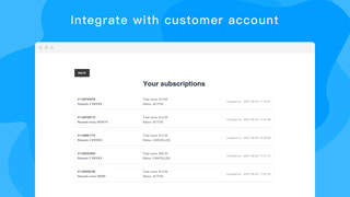 Integrate with customer account