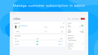 Manage customer subscription in admin