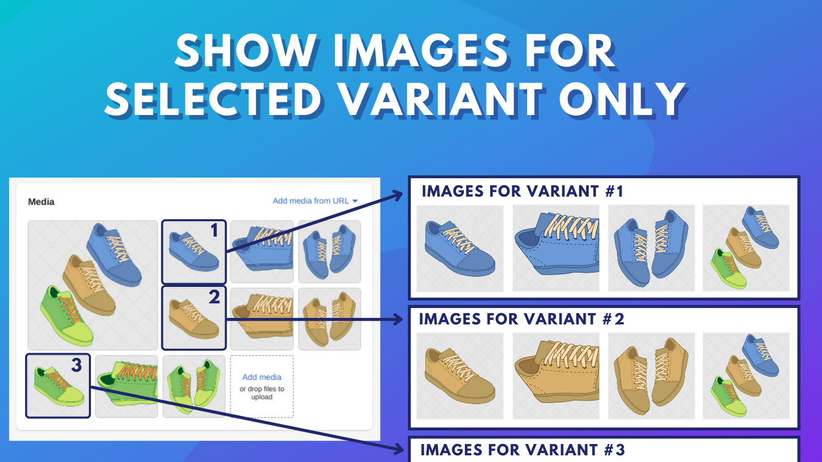 Show images for selected variant only