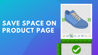 Save space on product page