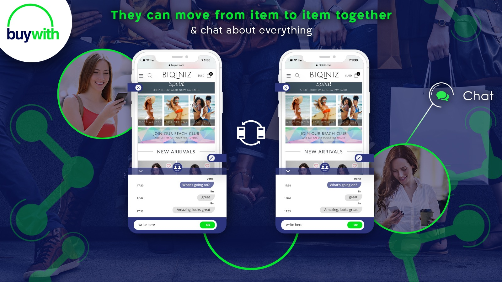 Share with friends and chat, social shopping, get sales