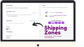 Shipping Zones settings in Admin