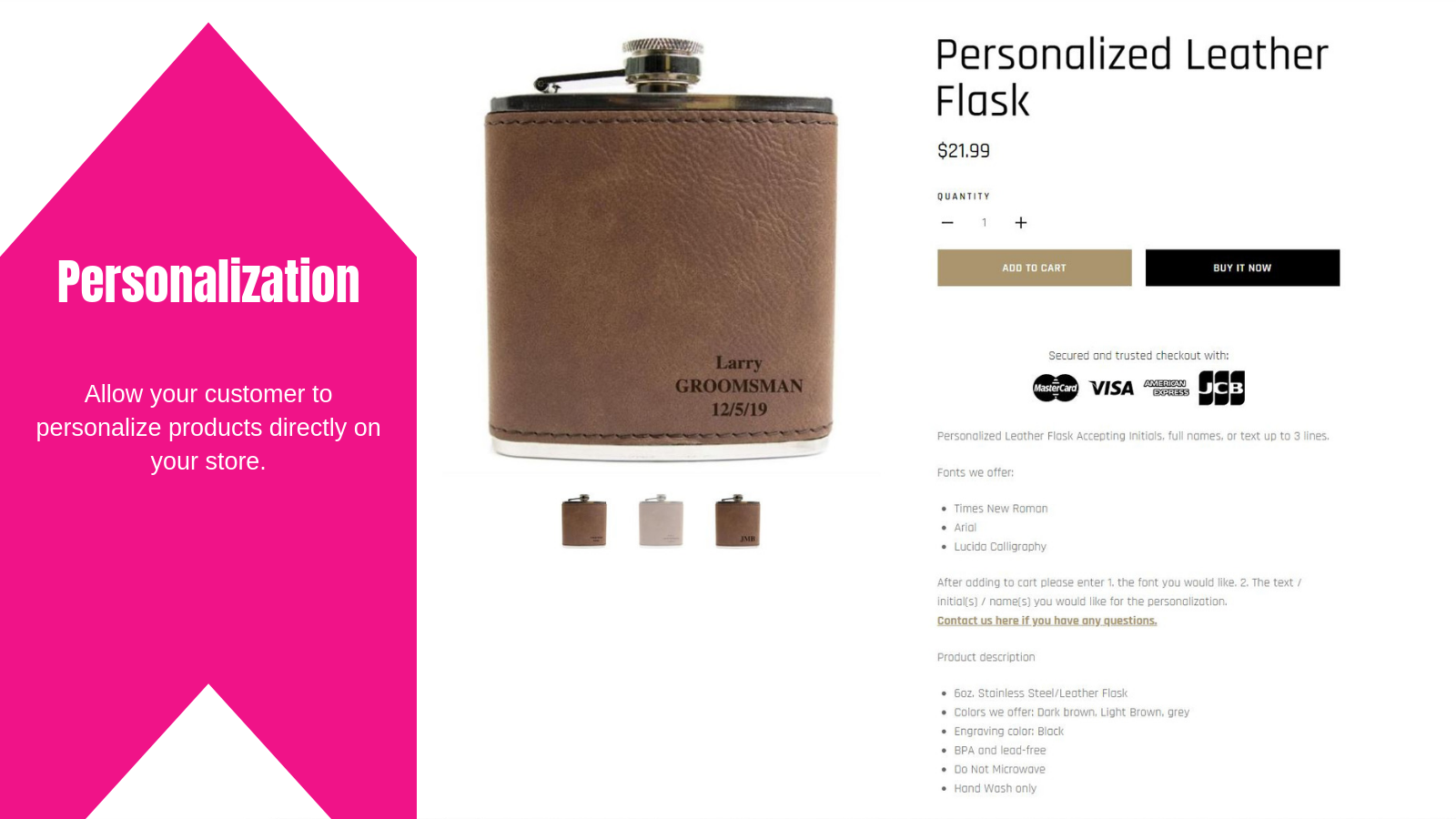 Completeful personalization feature