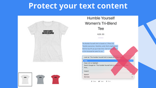 protect text