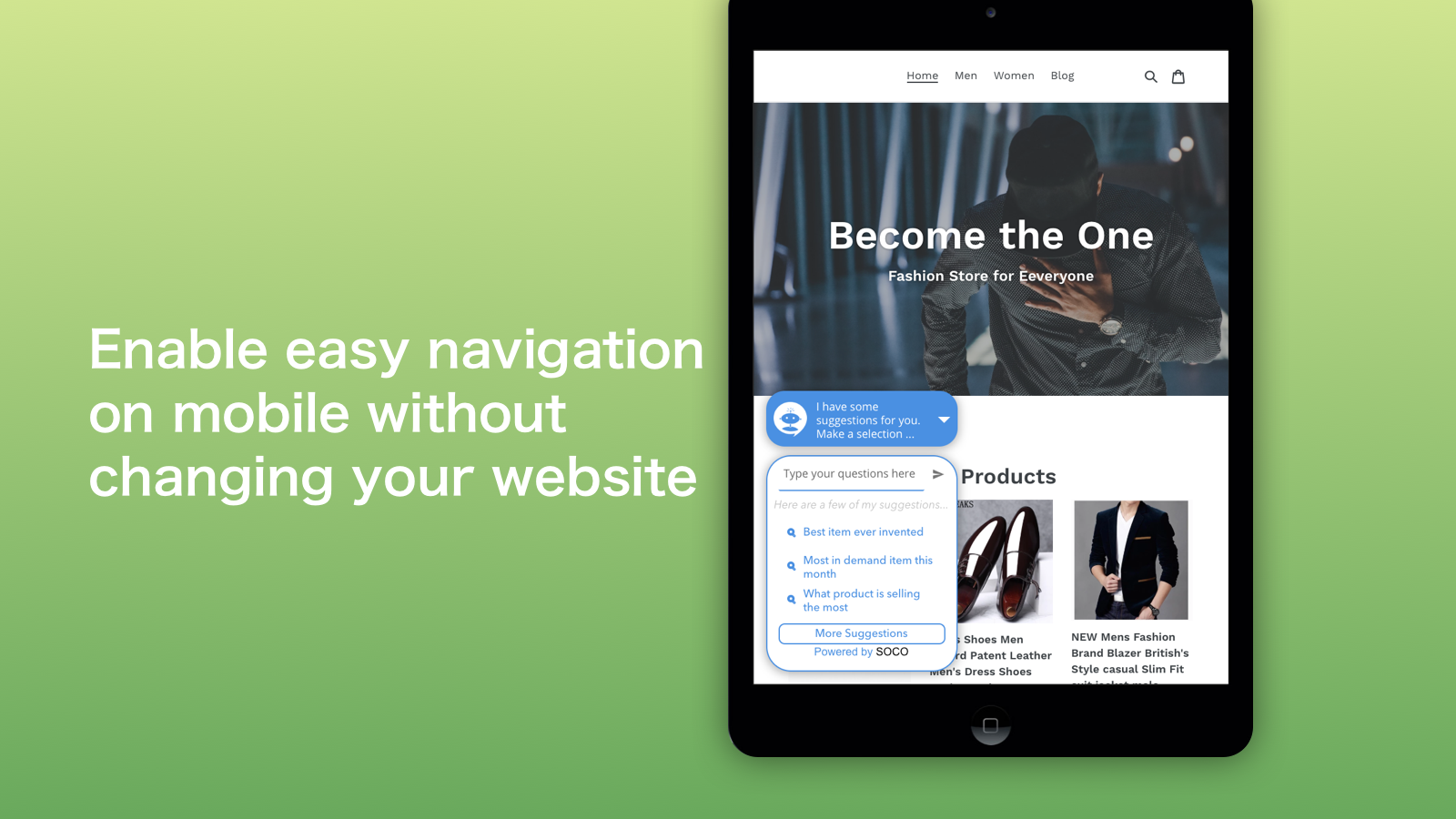 Enable easy navigation on mobile without changing your website