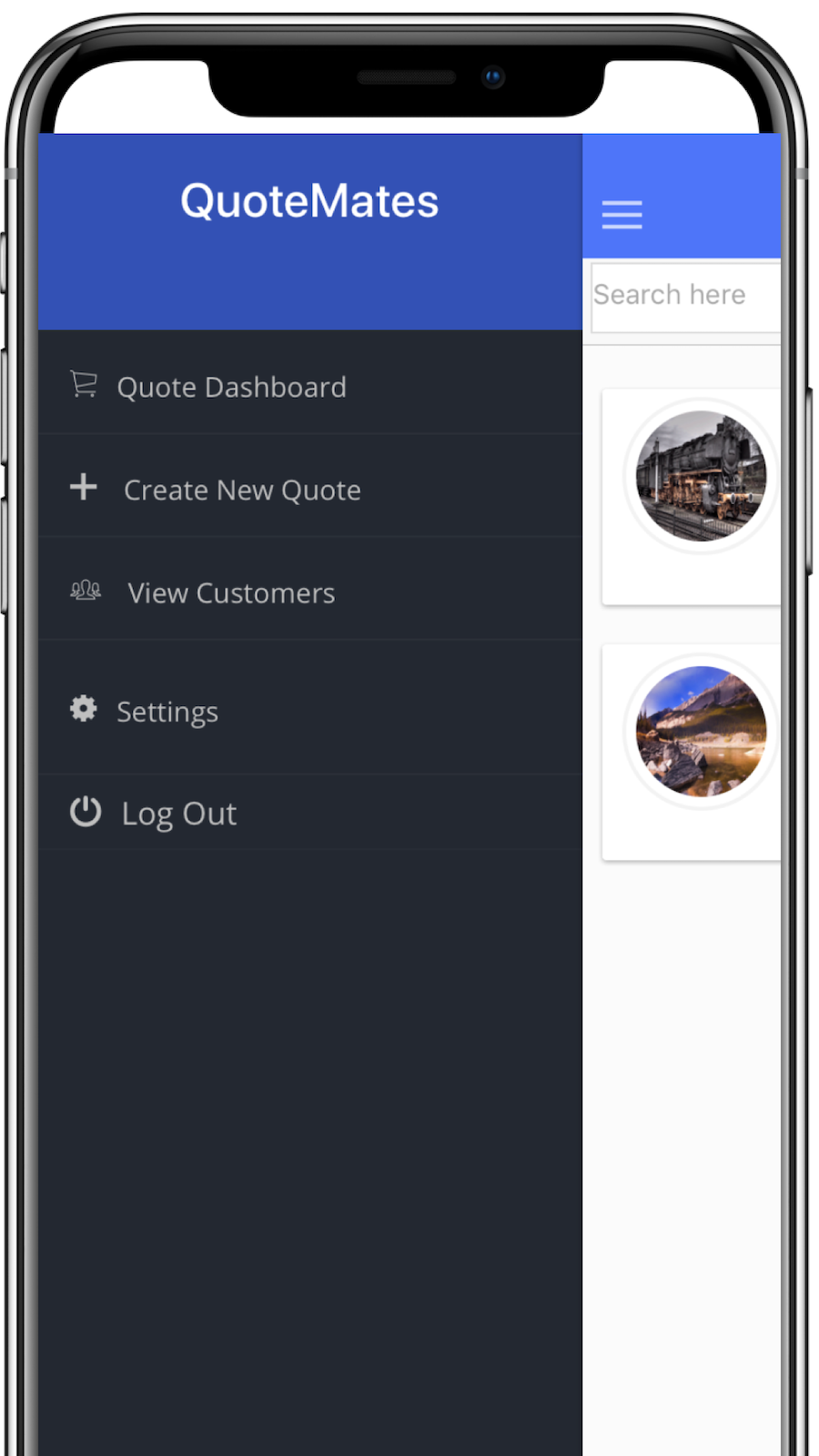 QuoteMates Mobile App - iOS and Android