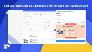 Sell your products as a package and increase your average cart