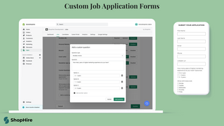 Custom job application forms