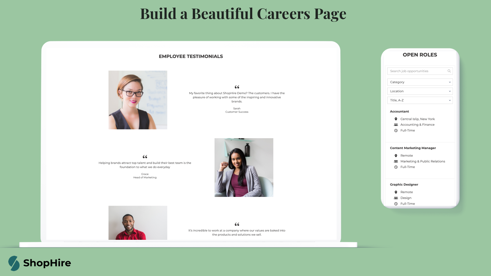 Build a beautiful careers page to attract top talent