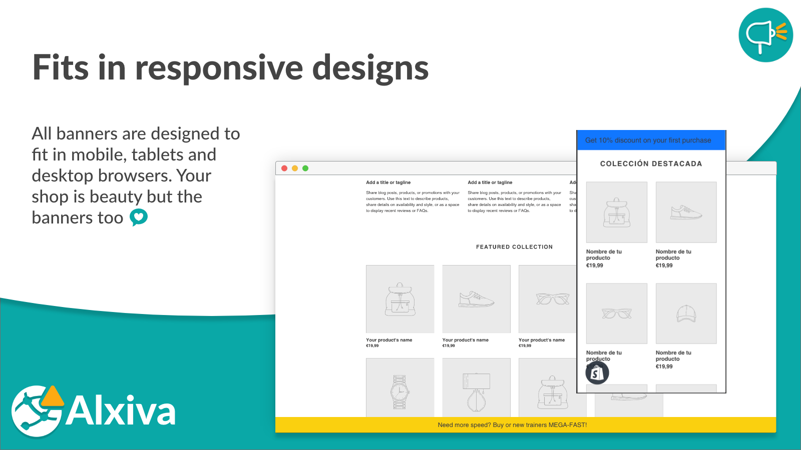 Fits in responsive designs