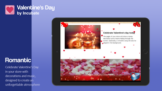 Celebrate Valentine's Day  with decorations and music
