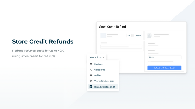 Store Credit Refunds