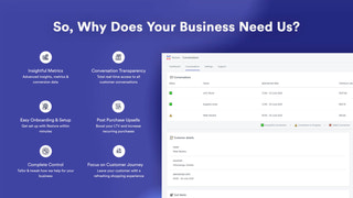 why your business needs us + conversations view