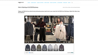 VStore video on web page