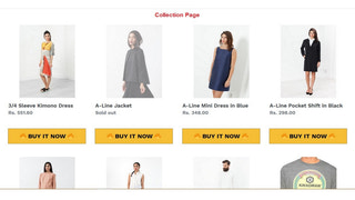 Collection page buy now