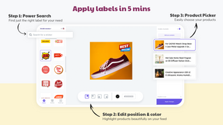 Apply badges in 3 steps. Search from 1000+ labels & easily apply