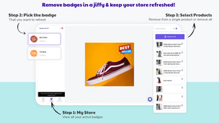 Easily remove badges, labels & stickers from product images.