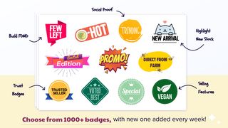 Improve product images & boost sales with badges, label, sticker