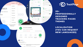 20+ professionally designed tracking pages themes