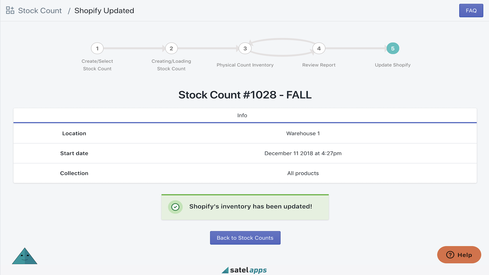 Update inventory on Shopify