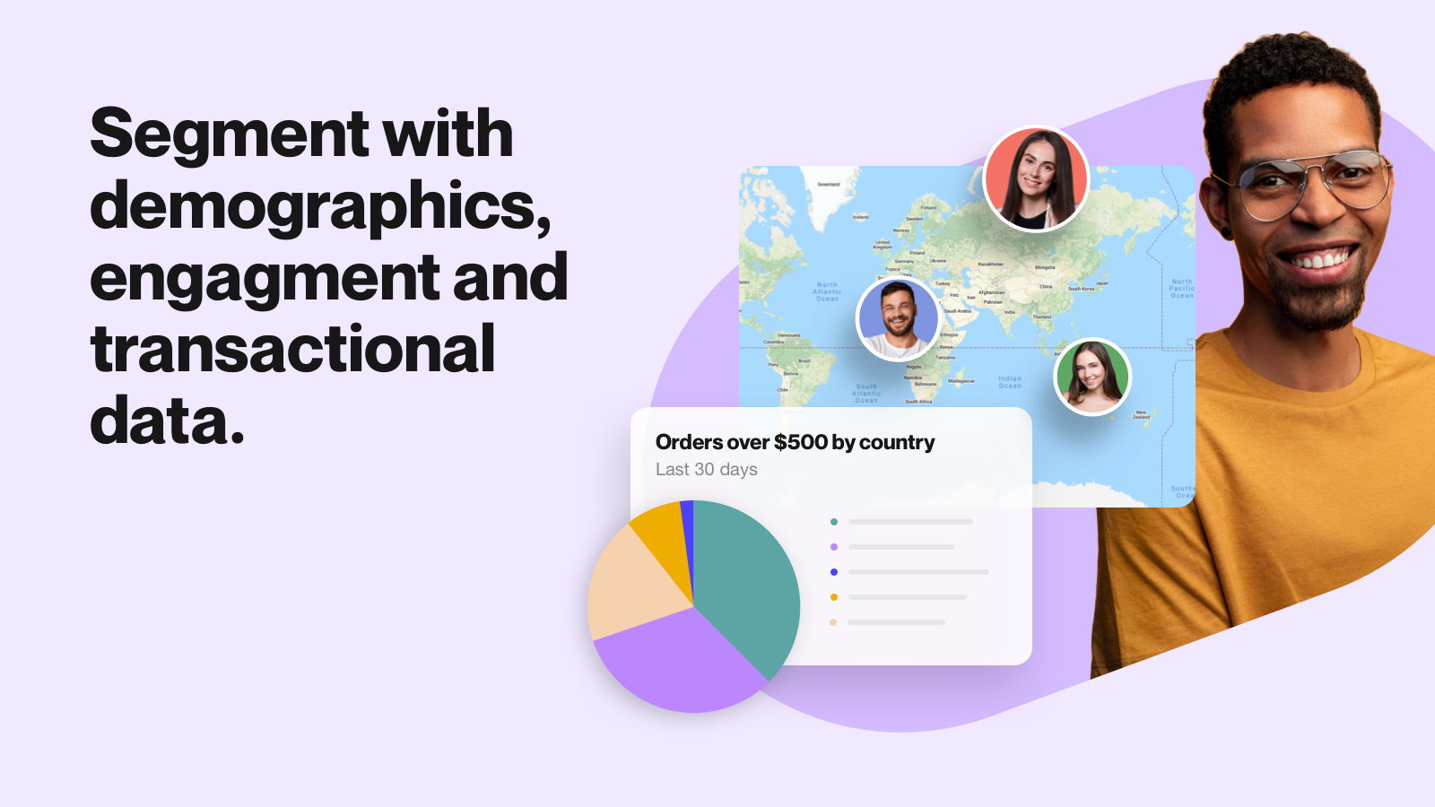 Segment with demographics, engagement and transactional data.