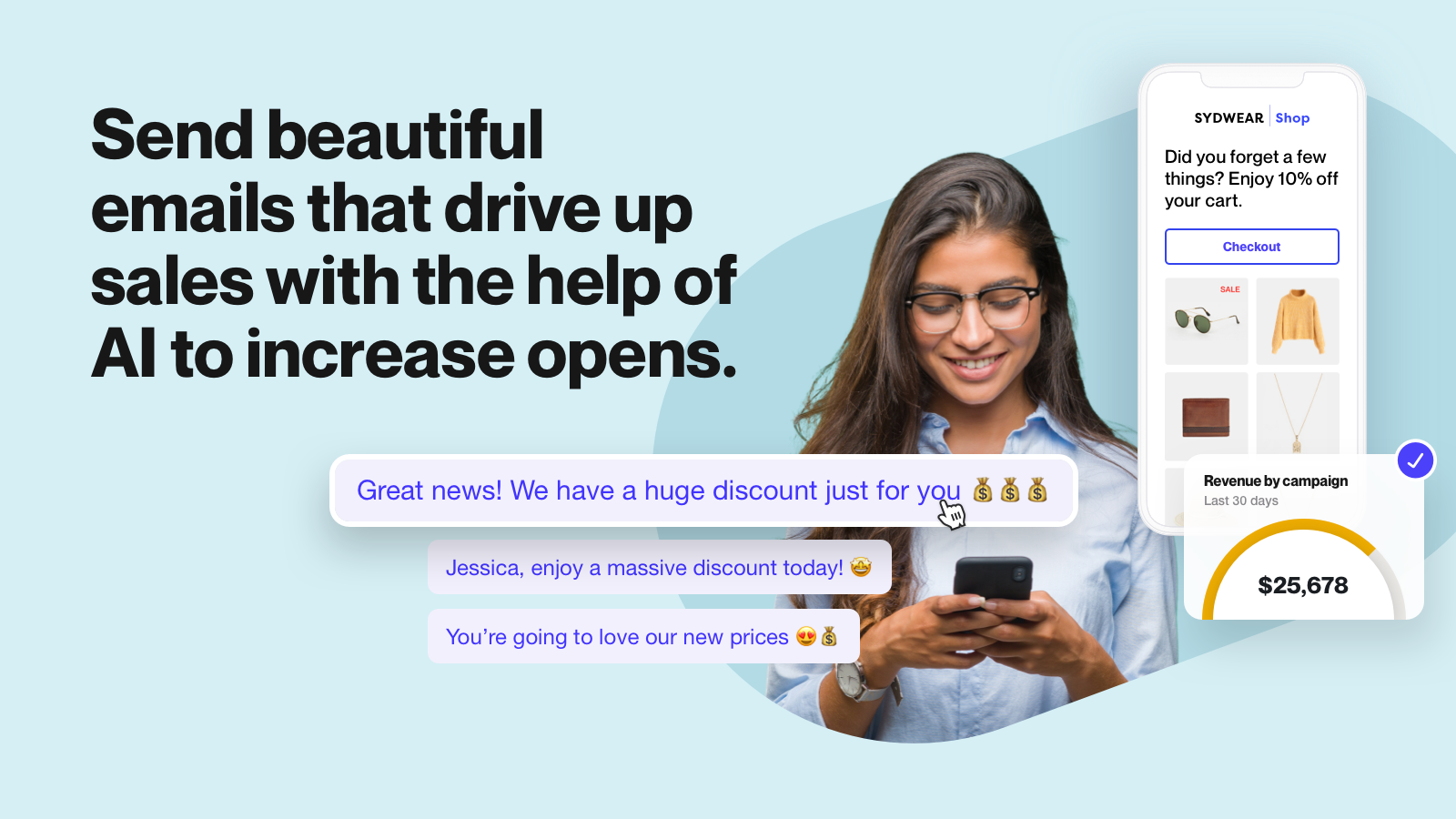 Send beautiful emails. Email marketing.