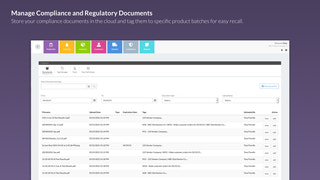 Manage compliance and regulatory documents