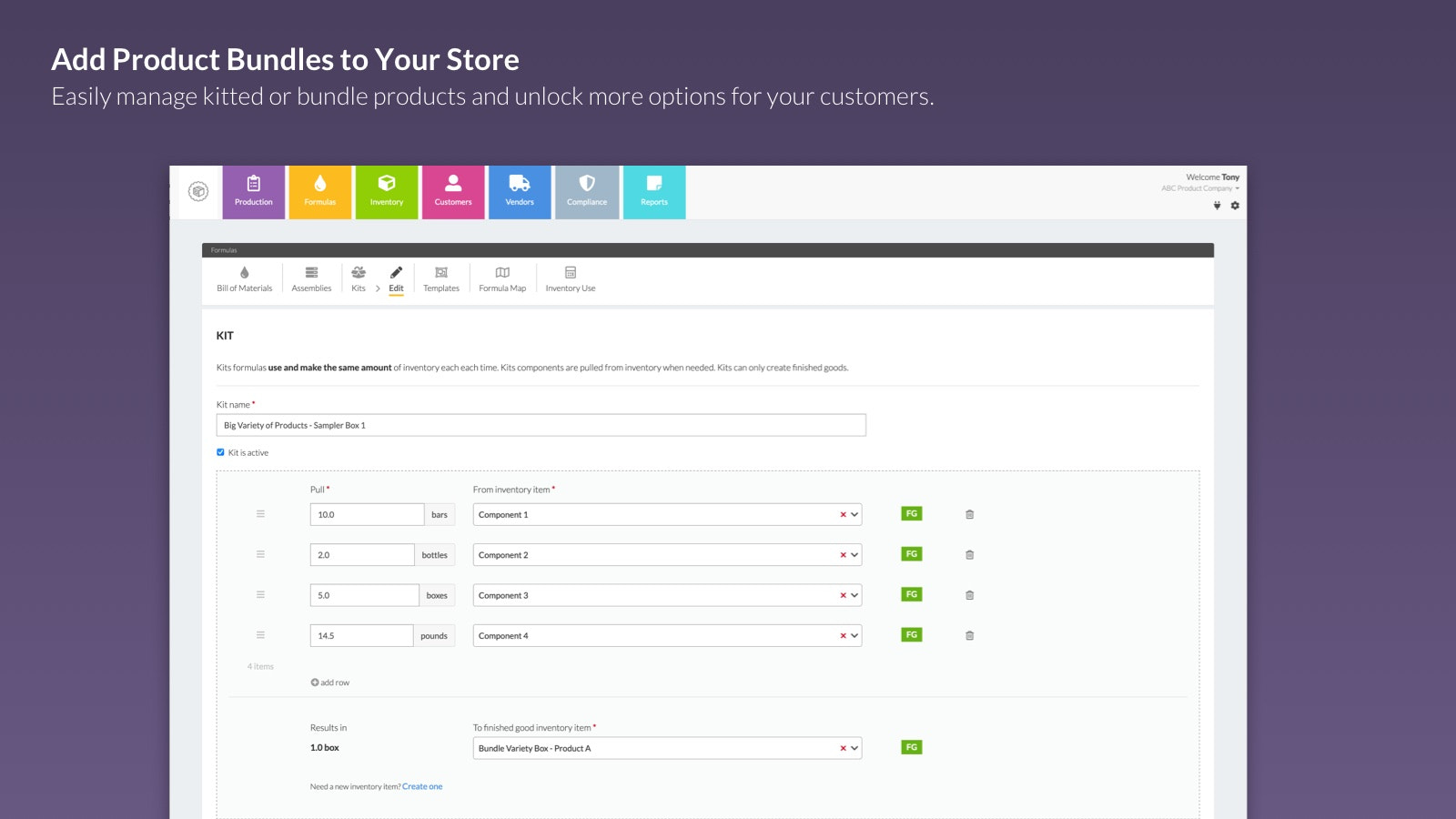 Sell bundled products on your store