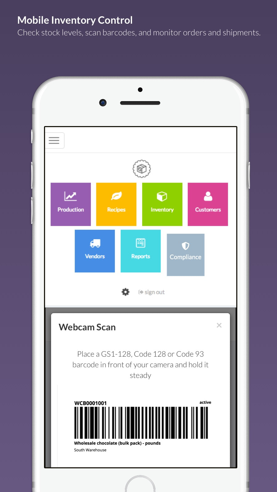 Mobile Inventory Control for Stock, Orders and Fulfillment