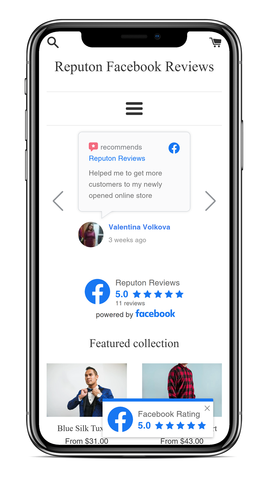 how to add facebook reviews to shopify