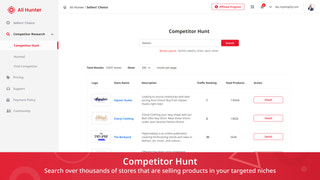 ali hunter shopify competitor hunt